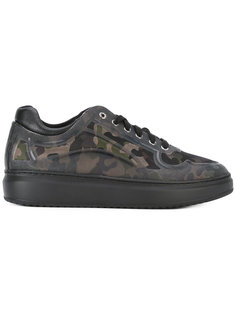 camouflage print sneakers  Pollini