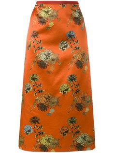 юбка Selma Long с цветочным принтом Dries Van Noten