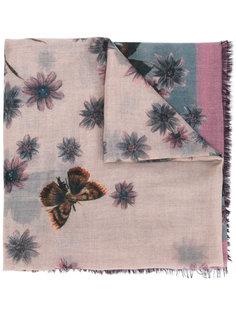 шарф с принтом мотыльков Valentino