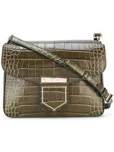 сумка через плечо с эффектом крокодиловой кожи Givenchy