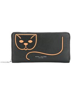 кошелек с принтом кота Marc Jacobs