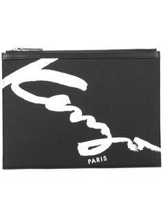 клатч с принтом логотипа Kenzo