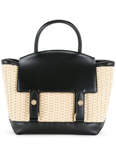 маленькая плетеная сумка-тоут  Sacai