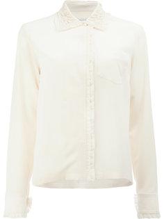 блузка с необработанными краями Dries Van Noten