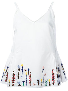 embroidered flowers cami Mih Jeans