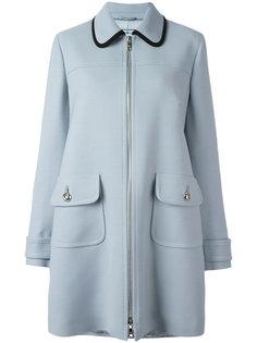 пальто на молнии с карманами Prada