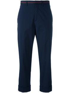 классические укороченные брюки Miu Miu