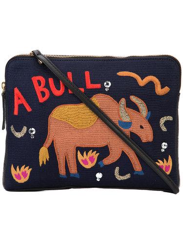 'Safari' embroidered clutch Lizzie Fortunato Jewels