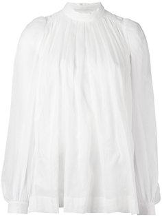 блузка с присборенной горловиной Dries Van Noten