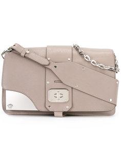 metal plaque shoulder bag Versace