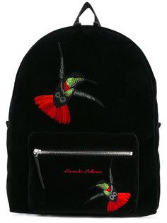 рюкзак с вышивкой колибри Alexander McQueen