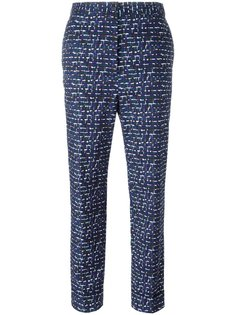 жаккардовые укороченные брюки Bottega Veneta