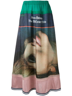 длинная юбка с графическим принтом Undercover