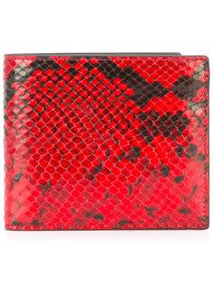 кошелек с эффектом кожи питона Maison Margiela