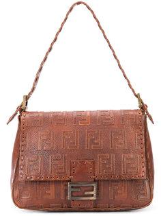 logo embossed shoulder bag Fendi Vintage
