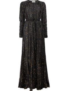 длинное платье с мятым эффектом Dries Van Noten