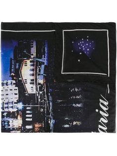 шарф с фото-принтом Balenciaga