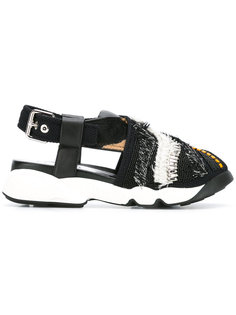 сандалии на рифленой подошве с блестящей отделкой Dior