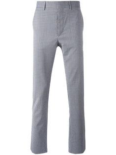 классические брюки в клетку Prada