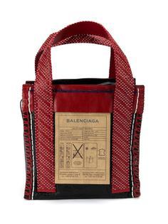 сумка-тоут с плетеными деталями Balenciaga