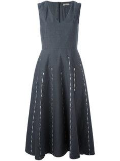 платье с вышивкой Bottega Veneta