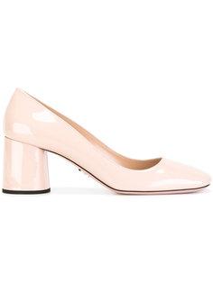 туфли на устойчивом каблуке Prada