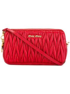 фактурная сумка через плечо  Miu Miu