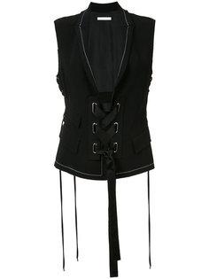 lace-up waistcoat  Victor Alfaro