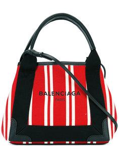 маленькая полосатая сумка-тоут Balenciaga