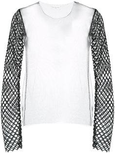 прозрачная блузка с длинными рукавами Dries Van Noten