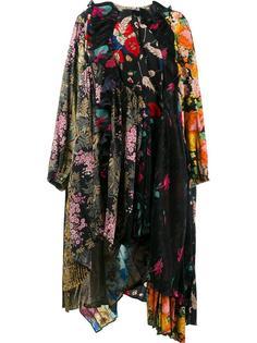 лоскутное платье с бахромой Balenciaga
