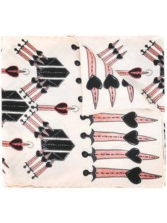 шарф с принтом кинжалов Valentino