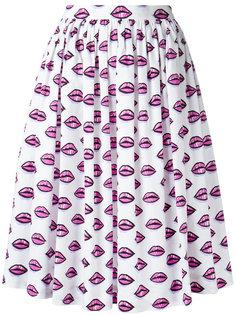 юбка с принтом сердец Prada
