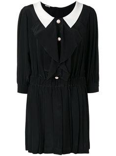 платье с контрастным воротником Miu Miu