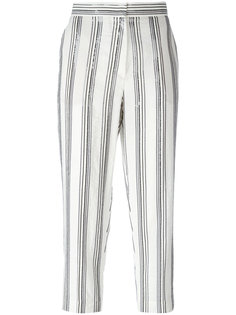 striped cropped trousers Brunello Cucinelli