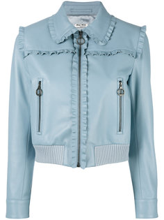 куртка на молнии с оборками Miu Miu
