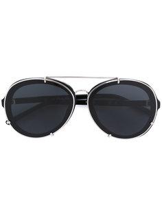 солнцезащитные очки с массивной оправой Linda Farrow