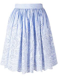 полосатая юбка Miu Miu