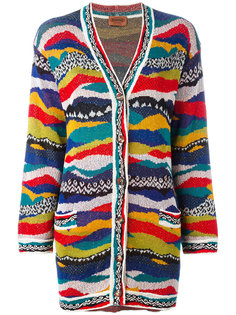 jacquard striped long cardigan Missoni Vintage