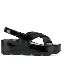 сандалии на платформе Prada
