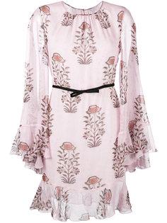 платье с длинными рукавами и цветочным принтом Giambattista Valli