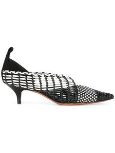 туфли на низком каблуке-рюмочке Céline