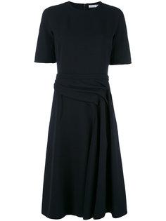 платье с драпировками на талии Dior