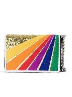 кошелек для монет Paris Rainbow Patch Saint Laurent