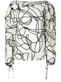 блузка шифт с абстрактным узором Dries Van Noten