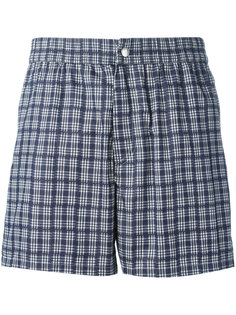 checked swimming shorts Brioni