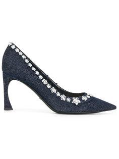 туфли с заостренным носом и стразами Dior
