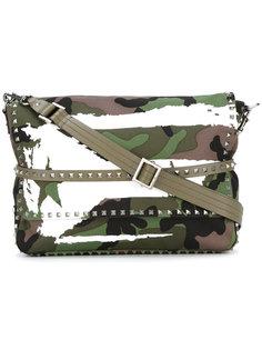 сумка на плечо с камуфляжным принтом Valentino
