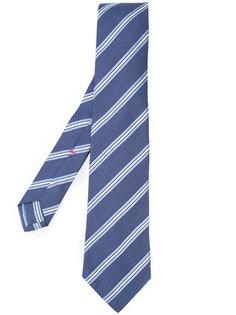 галстук в полоску Isaia