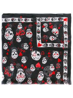 классический шарф с принтом черепов Alexander McQueen